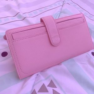 Light Pink Clutch Leather Wallet